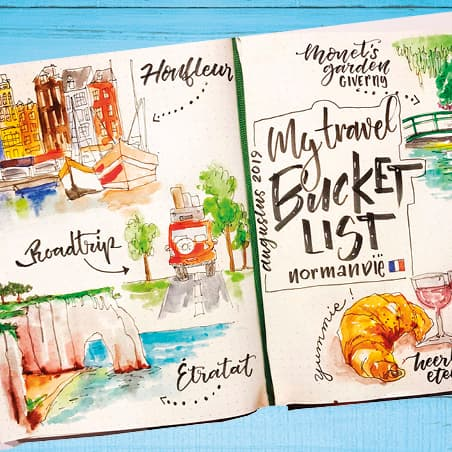 bullet journal travel bucketlist