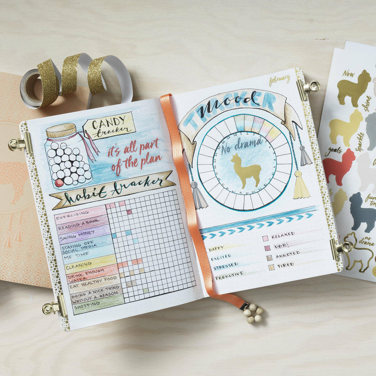 bullet journal trackers